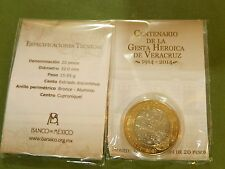 Mexico, 20 Pesos 2014 Bimetallic,Centennial of The Heroic Defense of Veracruz