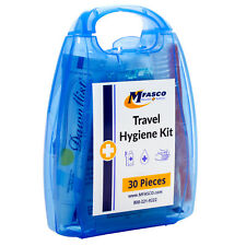 Travel Hygiene Kit Blue Plastic Case 30 Piece