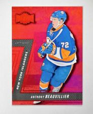 2016-17 Fleer Showcase Metal Universe Gems Red #MU34 Anthony Beauvillier /150