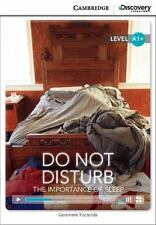 Do Not Disturb: The Importance of Sleep High Beginning Book with Online Access (