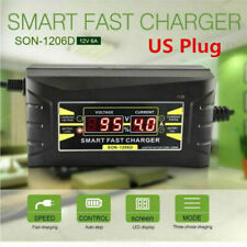 12V 6A Auto Smart Quick Lead-acid Battery Charger for Car Motorcycle LCD Display