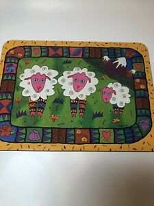 "Jason Cork Backed Placemats Whimsical Illustrations Set of 6 11.25"" x 8.5"""