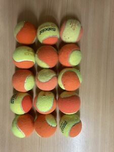 15 Used Orange Coaching Balls In Decent Condition. Pressure less. Dogs Kids