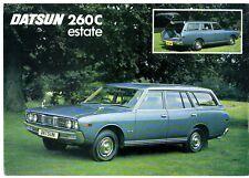 Datsun Nissan 260C Estate 1974-75 UK Market Single Sheet Sales Brochure Cedric