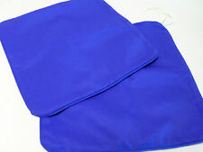 """Pair of 16"""" John Lewis Bright Blue Seat Pad Cushion Cover Dining Room #7B139"""