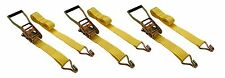 "3 Pc 2"" inch x 27' Ft Ratchet Tie Down Cargo Straps 5000 Lbs J Hooks 2 pack"