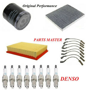 Tune Up Kit Air Oil Filters Spark Plugs Wire For GMC SIERRA 1500 HD V8; 6.0L 05