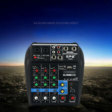 Mixer Console con Bluetooth Record 48V Phantom Power 4Channel Audio Mixer-LO