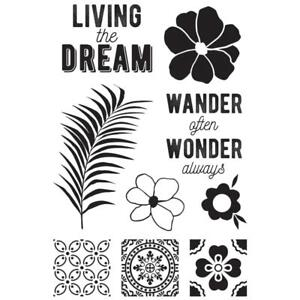 HAVANA NIGHTS Collection Clear Unmounted Rubber Stamp Set Kaisercraft CS318 New