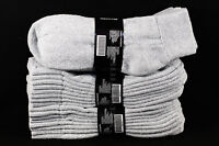 9-11, 10-13 4 12 pairs  Athletic Ankle Socks Cotton Heather Gray Unisex Quality