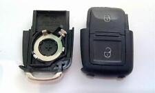 1x Para Volkswagen Skoda Asiento 2 botón remoto Flip Llavero caso Cr2032 (108)