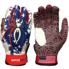 Spiderz HYBRID WEBTAC PALM Batting Gloves Captain America (Red/White/Blue) MED