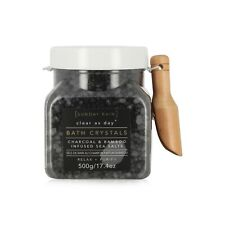 Charcoal and Bambo Infused Sea Salts Bath Soak Crystals Salt Relax and Unwind