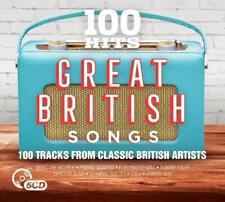 100 Hits: Great British Songs by Various Artists (CD, Aug-2017, 5 Discs, Edsel (UK))
