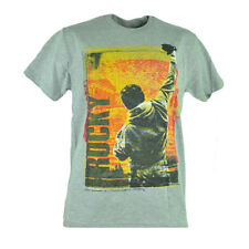Rocky Balboa Boxer Movie Film Distressed Graphic Grey Tshirt Tee Mens Small