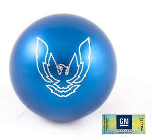 "82-02 Trans Am Billet Aluminum Blue Phoenix Bird Shift Knob NEW 2.25"" M16x1.5"