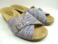 Worishofer Womens Size  39 US 8 Multi-Color Perforated Leather Wedge Sandals