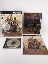 Age Of Empires - MicroSoft - 1998 Big Box CD Excellent Condition - Windows 95 98