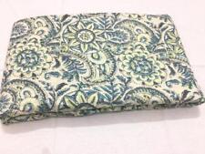 5 Yard Tribal Indian Handmade Sanganeri Cotton Fabric Hand Block Print Fabric`
