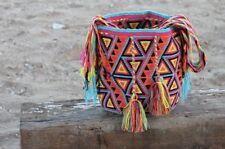 Authentique colombiano tribus Wayuu Mochila dos hebras Calidad