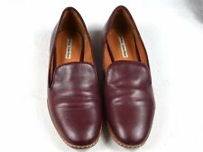 Mocassins bordeaux en cuir & Other Stories. Leather burgundy loafers slippers.