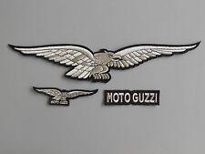 MOTO GUZZI KIT 3 TOPPE ARGENTO TOPPE PATCH RICAMATE TERMOADESIVE
