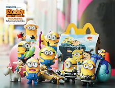 SET of 10 Minion Despicable Me 3 McDonald's Happy Meal Toys 2017