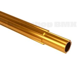 """Old school BMX bicycle 450mm seatpost seat post fluted 25.4mm 1"""" GOLD"""