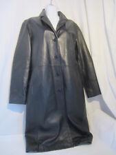 INC black leather coat - M
