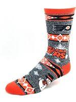 Philadelphia Flyers Hockey Ugly Holiday Snowman Sweater Crew Socks