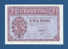 ESPAÑA // SPAIN -- 1 PESETA ( 12.10.1937 ) -- UNC -- SERIE B -- PICK 104a .