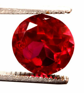 11.70 Cts Natural Mozambique Red Ruby Faceted Round Shape Certified Gemstone