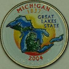 2004-P Colorized Michigan State Quarter