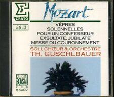CD- MOZART - VEPRES MESSE - GUSCHLBAUER -- ERATO ECD55007 BONSAI - 1 CD - ZCD4