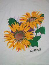 vintage California Sunflower Souvenir t shirt Xl 50/50 garden plant outdoor A3