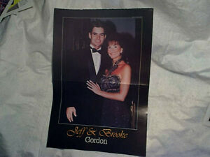 1995 JEFF & BROOKE GORDON POSTER,NASCAR,Winston Cup Champion,stock car racing