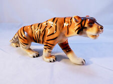 "11-1/2"" Royal Dux Bohemia Czech  Porcelain Tiger Figurine~ Perfect!"