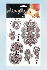 US Seller-Brown Henna Jewel Sexy Lace Tattoo fake tatto