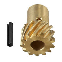 Bronze Distributor Gear 0.491in Roller Cam Distributor Gear Fit for Chevy SBC BBC 262-454 engine with 0.491 Diameter Shaft Size