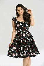 Hell Bunny Viva Las Vegas Mid Dress Rockabilly Retro Vintage Day Tea Dress