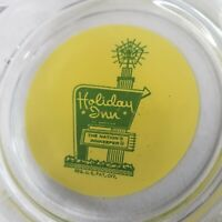 Vintage Holiday Inn Of America Ashtray The Nations Innkeeper Glass Yellow Green