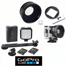 HD WIDE ANGLE FISHEYE LENS + 36 LED LIGHT FOR GOPRO HERO3 SILVER & BLACK EDITION