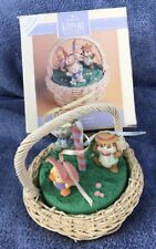1993 Hallmark Spring Easter Table Decoration & 3 Ornaments Maypole Stroll Mint