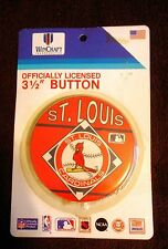 """St. Louis Cardinals Pin Back Button-3 1/2"""" Unopened Officially Licensed"""