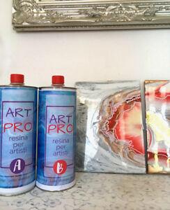 ART PRO RESINA TRASPARENTE ALTA VISCOSITA 1.6 KG PER RESIN ART & PAVIMENTI ARTIS