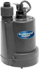 Submersible Water Pump Superior 1/4 HP Thermoplastic Utility Drain Pool Basement