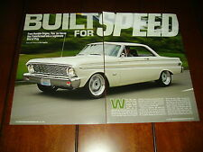 1964 FORD FALCON PAXTON SUPERCHARGED HOT ROD ***ORIGINAL 2008 ARTICLE***