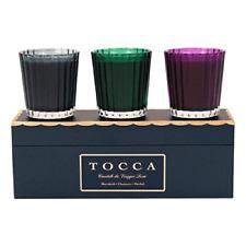 TOCCA CANDELE DA VIAGGIO COLLECTION Vanilla Tabak ROSEMARY PINE Vanilla Fig NIB