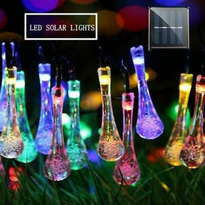 Solar Outdoor Christmas Lights Strong Waterproof LED Cold Lamp Clear Light Beads