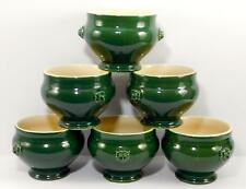 Williams Sonoma EMILE HENRY France Lion's Head Onion Soup Bowls Green set of 6